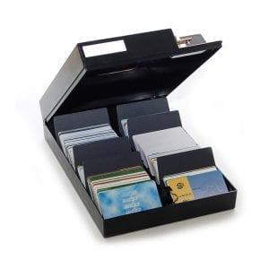 Boîte de rangement badges