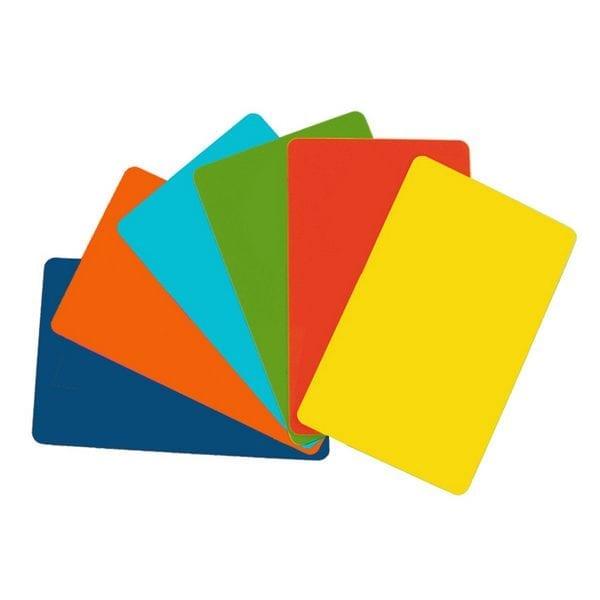 cartes PVC couleur or et argent