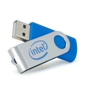 Clés personnalisés USB rotative twister
