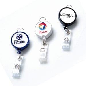 zip enrouleur personnalisé avec sticker