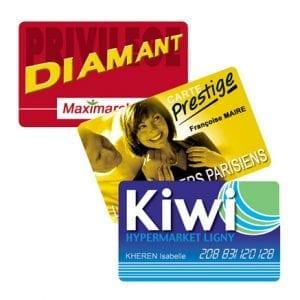 cartes PVC imprimerie offset