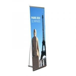 L Banner kakémono format 80x200 cm stand mobile