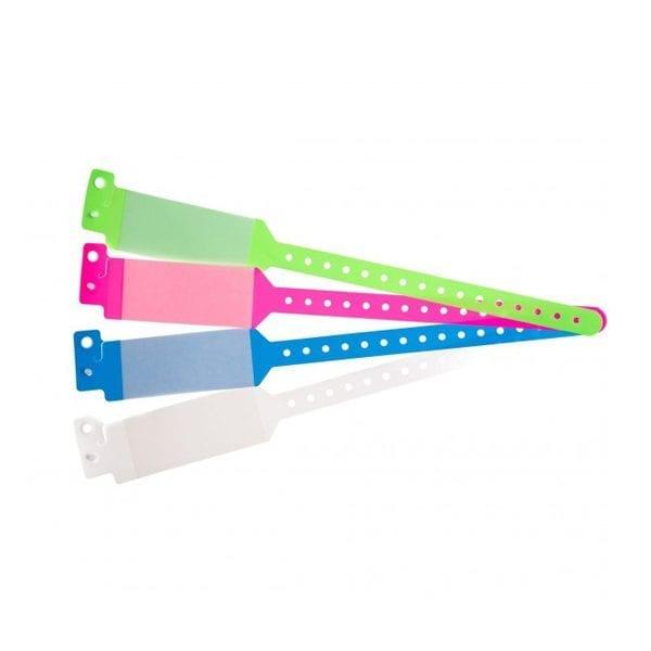 Bracelet hôpital avec rabat pour étiquette – modèle enfant