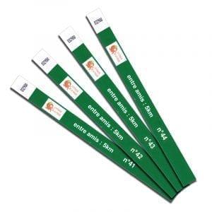 bracelet papier indéchirable personnalisation individuellement