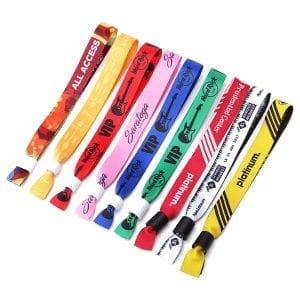 Bracelets tissu personnalisés pour évènement salon séminaire manifestation