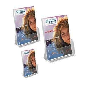 porte brochures comptoir A4 A5 1/3 de A4