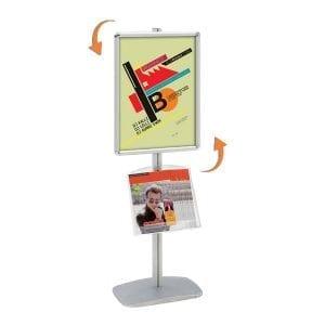 porte affiche A2 portrait ou paysage avec étagère porte document