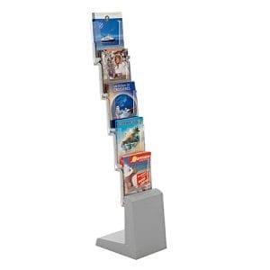 présentoir porte brochures pliable 5 cases pour salon exposition stand