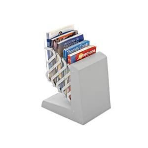 porte brochures pliable 5 cases A4 pour salon exposition