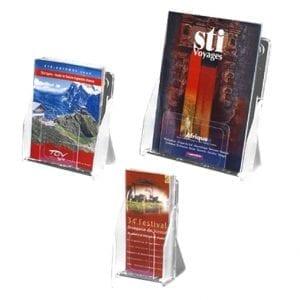 porte-brochures présentoir documents A5 A4 1/3 A4