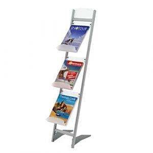 porte brochures mobile pliable 3 étages A4