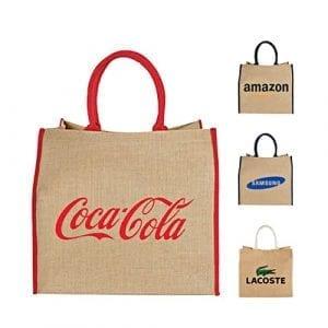 sac cabas course jute recyclée personnalisable