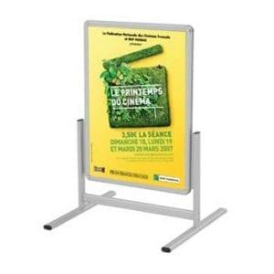 Affichage stop trottoir chevalet structure alu