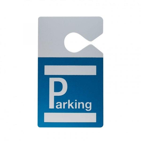 Badge parking avec accroche rétroviseur bleu