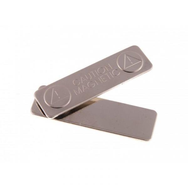 attache badge Barrette acier aimantée avec adhésif de fixation