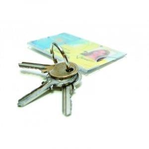 porte-badge carte avec anneau porte clés