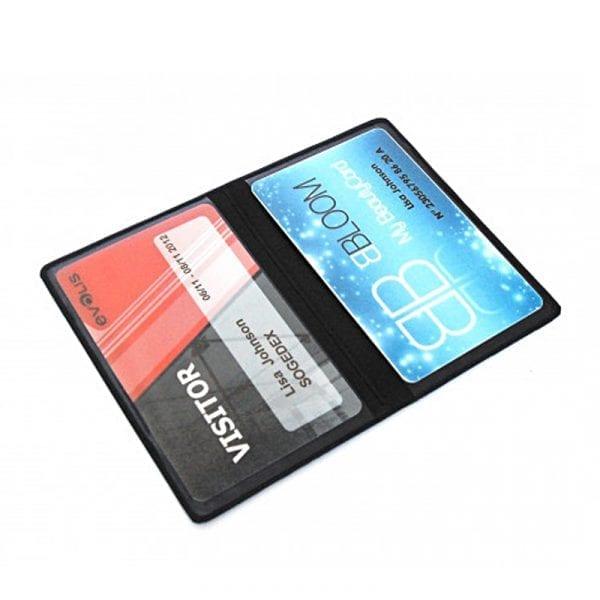 Protège-cartes souple 2 poches étui badge