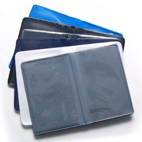 Protège-cartes souple 2 pochettes étui badge