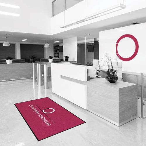 Impression tapis accueil personnalisé avec logo