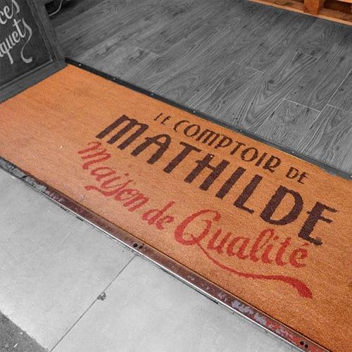 tapis brosse imprimé personnalisé avec logo